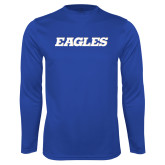 Syntrel Performance Royal Longsleeve Shirt-Eagles