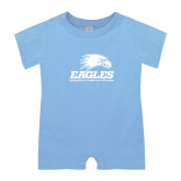 Light Blue Infant Romper-Signature Mark