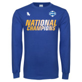 Royal Long Sleeve T Shirt-2017 Mens National Champions Soccer