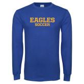 Royal Long Sleeve T Shirt-Soccer
