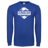 Royal Long Sleeve T Shirt-Soccer Shield