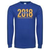 Royal Long Sleeve T Shirt-Class of 2018