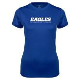 Ladies Syntrel Performance Royal Tee-Eagles