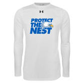 Under Armour White Long Sleeve Tech Tee-Protect The Nest
