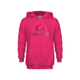 Youth Raspberry Fleece Hoodie-Eagles Foil