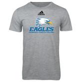 Adidas Sport Grey Logo T Shirt-Signature Mark