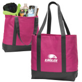 Tropical Pink/Dark Charcoal Day Tote-Signature Mark