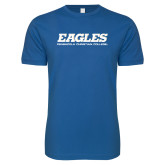 Next Level SoftStyle Royal T Shirt-Eagles