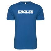 Next Level SoftStyle Royal T Shirt-Eagles