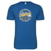 Next Level SoftStyle Royal T Shirt-2018 Womens Basketball Champions