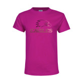 Youth Cyber Pink T Shirt-Eagles Foil