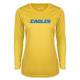 Ladies Syntrel Performance Gold Longsleeve Shirt-Eagles