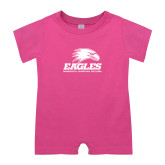 Bubble Gum Pink Infant Romper-Signature Mark