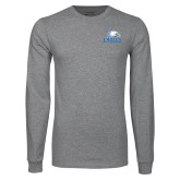 Grey Long Sleeve T Shirt-Signature Mark