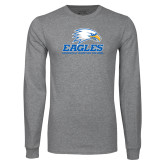 Grey Long Sleeve T Shirt-Signature Mark