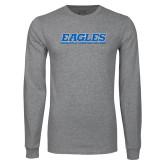 Grey Long Sleeve T Shirt-Eagles