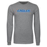 Grey Long Sleeve T Shirt-Eagles