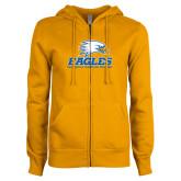 ENZA Ladies Gold Fleece Full Zip Hoodie-Signature Mark