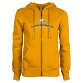 ENZA Ladies Gold Fleece Full Zip Hoodie-Alumni Design