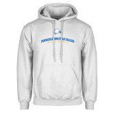 White Fleece Hoodie-Alumni Design