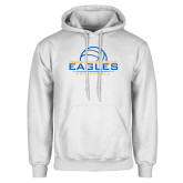 White Fleece Hoodie-Volleyball