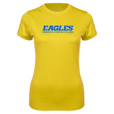 Ladies Syntrel Performance Gold Tee-Eagles