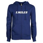 ENZA Ladies Royal Fleece Full Zip Hoodie-Eagles