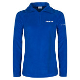 Columbia Ladies Half Zip Royal Fleece Jacket-Eagles