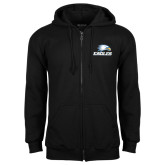 Black Fleece Full Zip Hoodie-Eagles