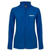 Ladies Fleece Full Zip Royal Jacket-Eagles