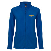 Ladies Fleece Full Zip Royal Jacket-Mom