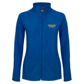 Ladies Fleece Full Zip Royal Jacket-Alumni
