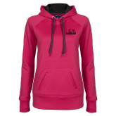 Ladies Pink Raspberry Tech Fleece Hoodie-Eagles