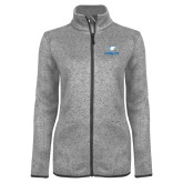 Grey Heather Ladies Fleece Jacket-Eagles