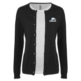 Ladies Black Cardigan-Eagles