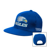 Royal Flat Bill Snapback Hat-Eagles