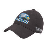Charcoal Twill Unstructured Low Profile Hat-Eagles