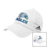 Adidas White Slouch Unstructured Low Profile Hat-Eagles