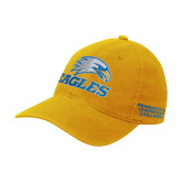 Gold Flexfit Mid Profile Hat-Eagles