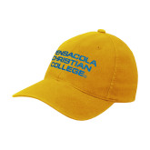 Gold OttoFlex Unstructured Low Profile Hat-Pensacola Christian College