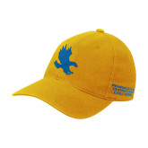 Gold Flexfit Mid Profile Hat-Eagle Silhouette