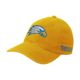 Gold Flexfit Mid Profile Hat-Eagle Head