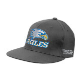 Charcoal Flexfit Flat Bill Pro Style Hat-Eagles