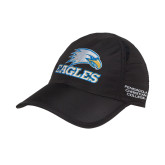 Ladies Black Performance Cap-Eagles