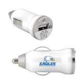 On the Go White Car Charger-Signature Mark