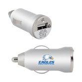 On the Go Silver Car Charger-Signature Mark