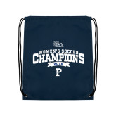 Navy Drawstring Backpack-2018 Womens Soccer Champions