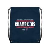 Navy Drawstring Backpack-2019 Womens RS Basketball Champions