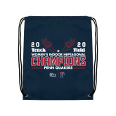 Navy Drawstring Backpack-2020 Womens Track & Field Champs
