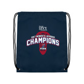 Nylon Navy Drawstring Backpack-2017 Ivy League Womens Lacrosse Champions
